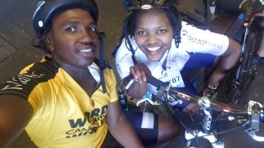 End of the race with Makabongwe.